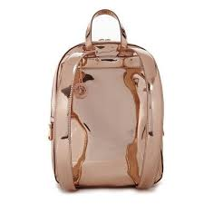 dkny rose gold leather backpack liked