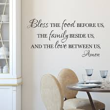 Bless The Food Before Us Vinyl Wall Decal Bless The Food Before Us
