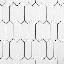White Picket Ceramic Tile In 2020 Bathroom Floor Tiles Ceramic Tiles Flooring