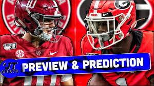 Georgia vs Alabama Preview & Prediction ...