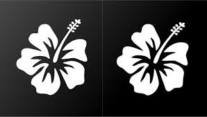 Hibiscus Vinyl Decals Hawaiian Aloha Flower Car Window Laptop Stickers Kandy Vinyl Shop