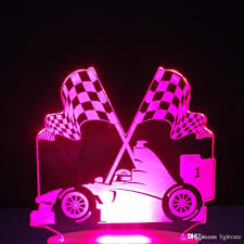 2020 3d Led Luminous Changing Table Lamp Touch Switch F1 Racing Car Usb Kids Bedroom Bedside Victory Flag Night Lights Decor From Lightcute 16 44 Dhgate Com