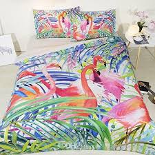 flamingo bedding twin bed in a bag