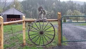 The Wagon Wheel Fence Metal Wagon Wagon Wheel Fence