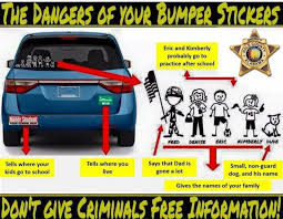Police Bumper Stickers Provide Criminals With Free Information About Your Life Wset