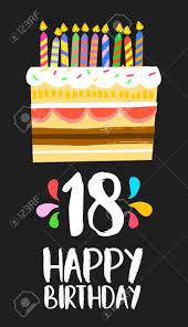 Numero 18 Del Feliz Cumpleanos Tarjeta De Felicitacion Durante