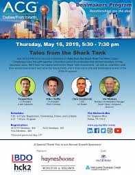 May 2019 Dealmakers Program | ACG Dallas/Fort Worth