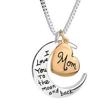 moon pendant necklace i love you mom