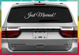 Just Married Car Vinyl Window Decal Sign Ebay