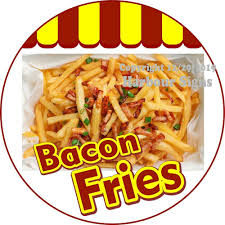 Bacon Fries Decal Choose Your Size Concession Food Truck Vinyl Circle Sticker Harboursigns In 2020 Bacon Fries Bacon Food