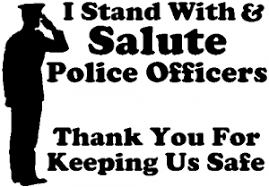 Stand With Salute Police Officers Pro Police Car Or Truck Window Decal Sticker Rad Dezigns