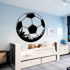 Fashion Football Wall Stickers Soccer Vinyl Decals For Kids Rooms Wallpaper Home Decor Muursticker Voetbal Wall Stickers Aliexpress