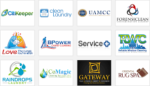 cleaning service pany logos with