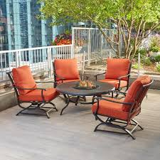redwood valley 5 piece metal patio