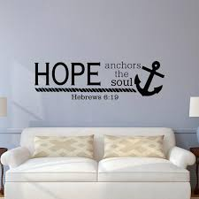 Bible Verse Wall Decal Hope Anchors The Soul Hebrews 6 19 Wall Etsy