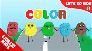 Bé học tiếng Anh về màu sắc |[Trọn bộ 20 chủ đề từ vựng sách Let's go]  [Lioleo Kids] - YouTube