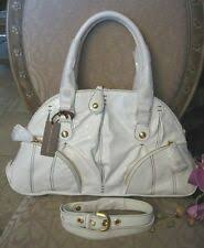 $550 ISABELLA FIORE ZIP IT ADA WHITE Satchel Bag Handbag Purse NWT ...