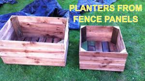 Garden Planter Boxes From Old Fence Panels Youtube
