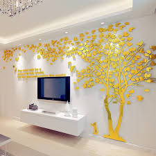 1pcs Creative Texture 3d Acrylic Tree Tv Setting Wall Decal Living Room Trees For Walls Stickers Warmth Homedecor Wall Decal Wall Decals Living Room Wall Decalsliving Room Aliexpress