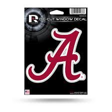 Rico Ncaa Alabama Crimson Tide Die Cut Auto Decal Car Sticker Medium V Sportzzone