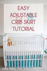 sew an easy diy crib skirt