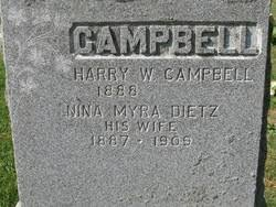 Nina Myra Dietz Campbell (1887-1909) - Find A Grave Memorial