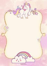 Tarjeta Invitacion Invitacion De Unicornio Tarjetas De