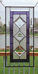this stained glass panel window is a