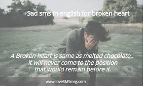 sad sms in english for broken heart