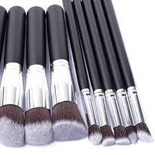 ten piece kabuki makeup brush set