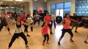 """Zumba with Mayra and Elizabeth Usher """"She came to give it to you ..."""
