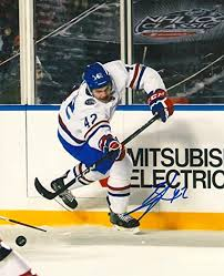 BYRON FROESE signed MONTREAL CANADIENS 8X10 SCOTIABANK CLASSIC photo w/COA  - Autographed NHL Photos at Amazon's Sports Collectibles Store