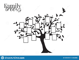 Family Tree Vector With Picture Frame Wall Decals Wall Decor Flying Birds Silhouette On A Tree Stock Vector Illustration Of Nature Flying 144143131