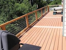 Trex Deck With Wire Railing Google Search Deck Railings Ranch House Exterior Wire Deck Railing