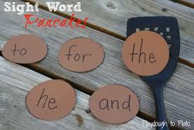 Sight Word Pancakes   Sight words, Sight word games, Teaching kids