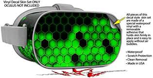Decal Style Skin Wrap Compatible With Oculus Go Headset Hex Green Oculus Not Included Virtual Reality Use