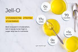jell o nutrition facts calories carbs
