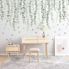 Green Wall Sticker Wall Decal Plants Wall Decalsucculent Etsy