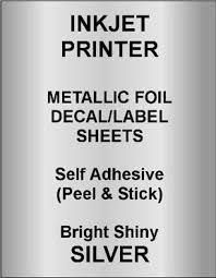Inkjet Printer Gold Or Silver Foil Decal Paper Shiny Etsy