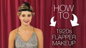 how to modern 1920 flapper makeup