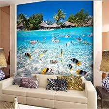 Amazon Com Dalxsh Tropical Fis S 5d Mural Wallpaper 3d Wall Mural For Kids Room Sofa Background 3d Wall Photo Murals Wall Paper 250x175cm Furniture Decor