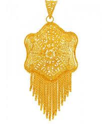 22k gold filigree big pendant