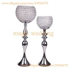 metel globe candle holders stand