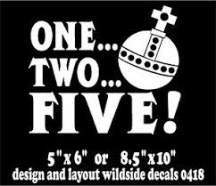 Monty Python Quote Decal One Two Five Holy Hand Grenade Funny Vinyl Car Sticker Ebay