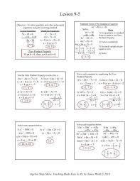 9 5 solving quadratic equations by