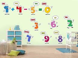 Numbers Kids Wall Decal Classroom Stencils Nursery Art Etsy
