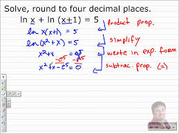 common and natural logarithm solutions