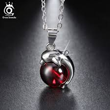 925 sterling silver red natural stone