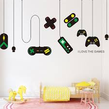 Game Console Wall Sticker Living Room Bedroom Environmental Decoration Painting Home Decoration Wall Stickers For Kids Rooms Wall Stickers Aliexpress