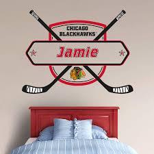 Chicago Blackhawks Personalized Name Fathead Wall Decal Name Wall Decals Wall Decals Blackhawks